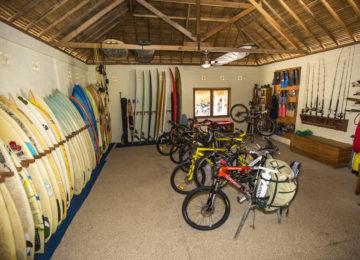 Equipment für Aktivitäten im Nemberala Resort
