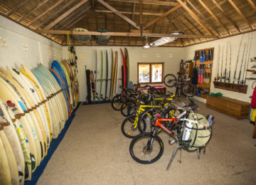 Equipment for activities at Nemberala Resort