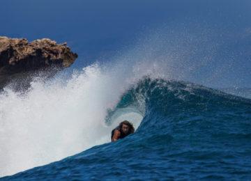 Barrel Surfer on Red Island Timor