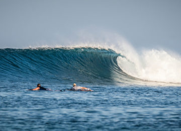 Righthander Wave in Indonesia