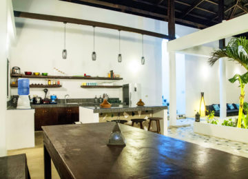 Küche im Surfhouse Riad Masaya