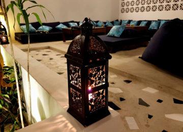 Marokkanische Lampe im Surf House