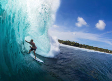 Surfers in Barrel Cloud9 Philippines