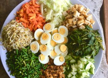 Gesunde Mahlzeiten im Eco Resort Indonesien