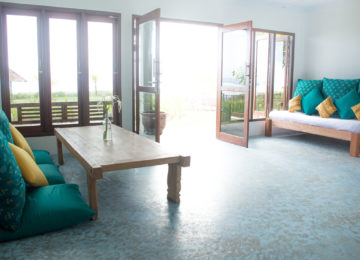 Living room in bungalow on Simeulue