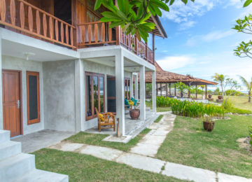 Exterior view of bungalow in Indonesia