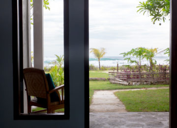 Gartensicht im Surf Resort Sumatra