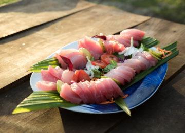 Frischer Fisch auf Simeulue in Sumatra