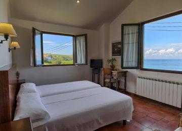 Double room with open window