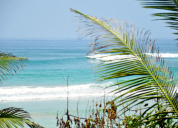 View of the surf spot in the south of Sri Lanka