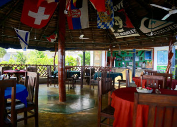 Common area at the Surfcamp