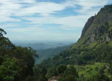 View of Ella Rock in Sri Lanka