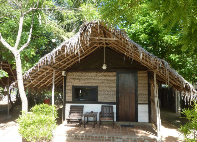Aussenansicht auf Beach Cabana in Arugam Bay