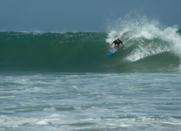 Surfers at Main Point in Arugam Bay Sri Lanka