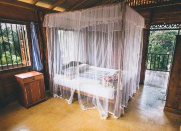 Doppelzimmer mit Doppelbett in Mirissa