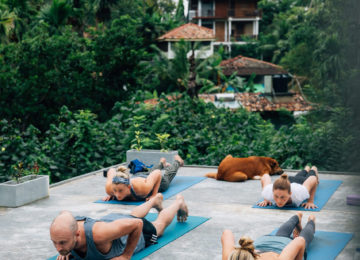 Yoga Session im Surfcamp Sri Lanka