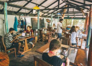 Café im surf and yoga camp Sri Lanka