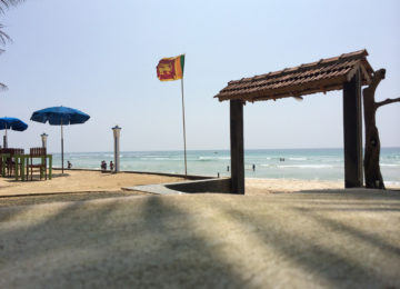 View of the sea from Sri Lanka Surfcamp