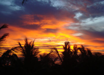 Sunset in Ahangama Sri Lanka