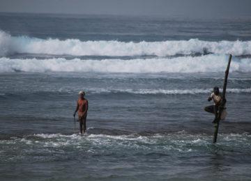 Local on the beach in Sri Lanka