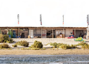 The surf station with the rental boards