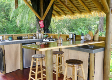 Kitchen area at Eco Lodge Bungalow
