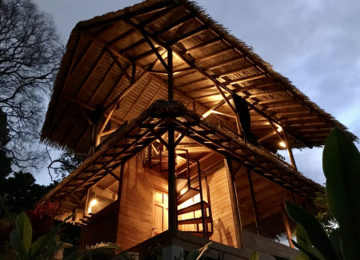 Eco Lodge Bungalow in evening light