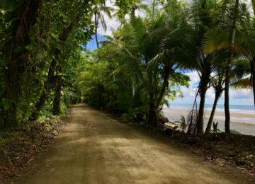 Road at Pavones in Costa Rica