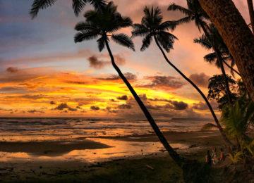 Sunset on the beach of Punta Banco