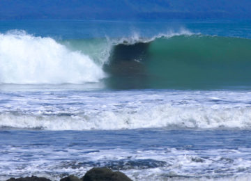 Link wave in the south of Costa Rica