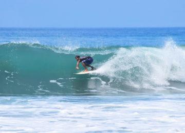 Surfers in Barrel near Pavones