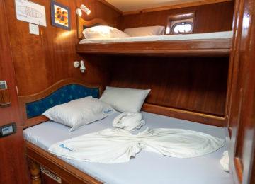 Sleeping bunk on the Blue Shark