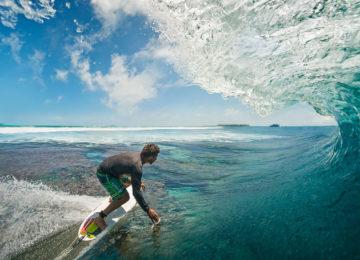 Surfers in Huvadhoo
