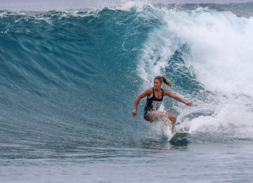 Surfer with Bottom Turn