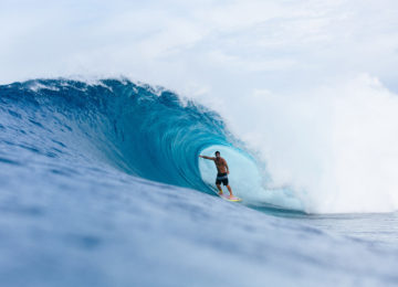 Surfer in Mentawai Barrel