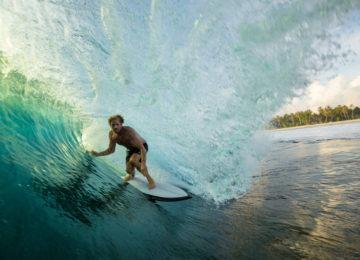Surfer in der Tube