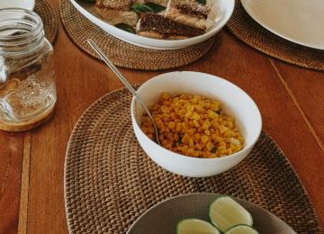 Gedeckter Tisch im Mentawai Resort