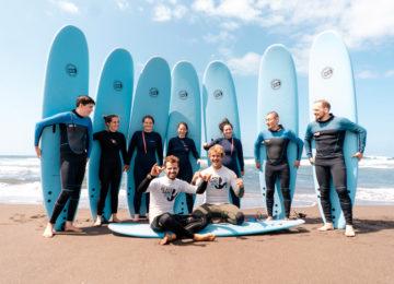 Surfkurs Gruppe Azoren