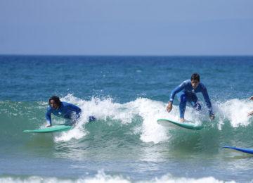 Surf course at Gota d'Agua Surfcamp