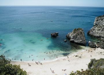 Bathing beach near Lisbon