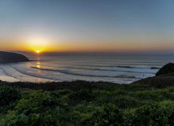 Sonnenuntergang in Sopela