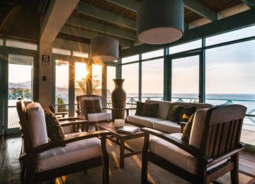 Hotel mit Sicht aufs Meer