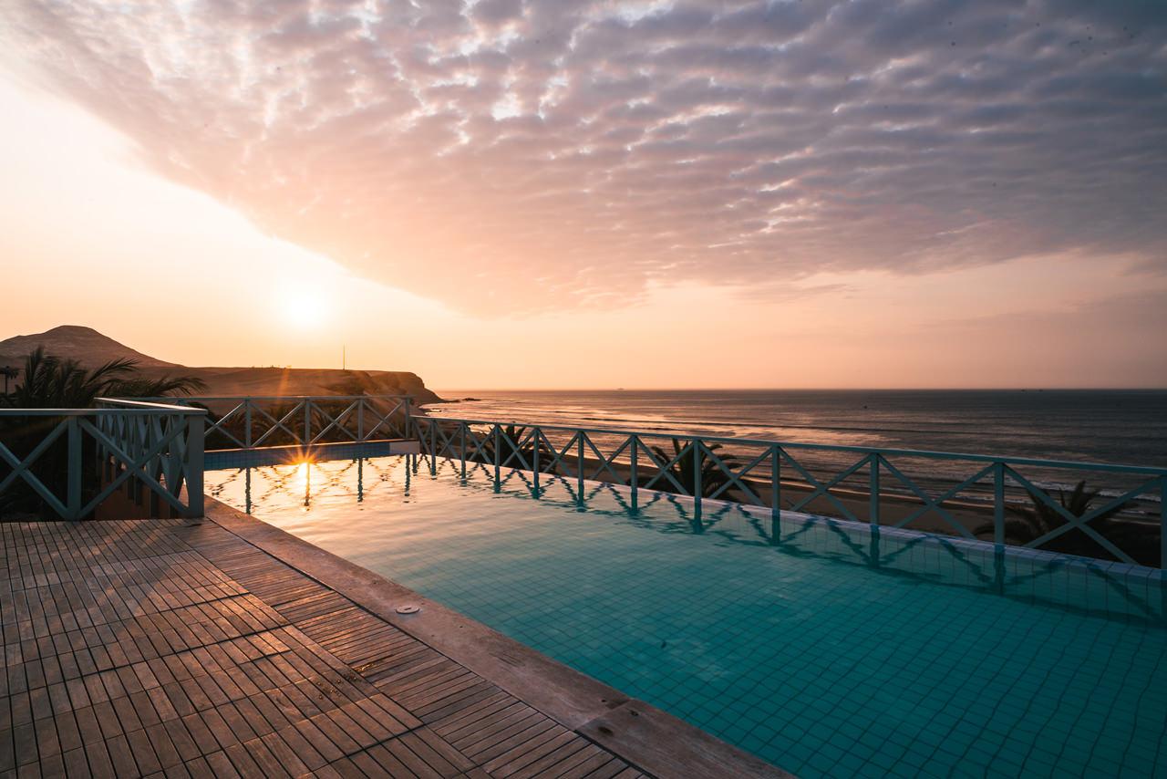 Pool overlooking the Chicama Left Wave
