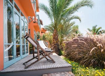 Doppelzimmer mit Balkon und Garten