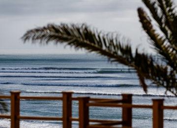 Blick auf die Welle in Peru