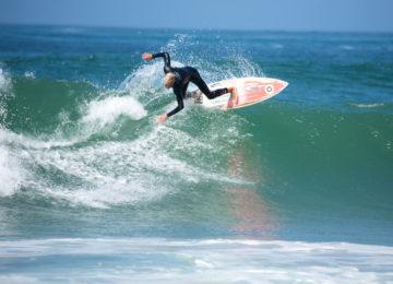 Surfers near Lisbon