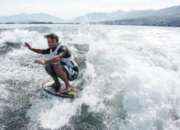 Wakesurfer auf Zürichsee