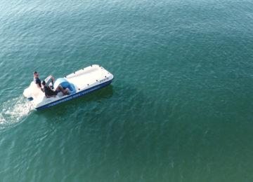 Pedalo auf Zürichsee