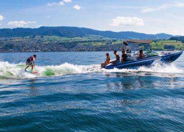Wakesurf Session auf Zürichsee