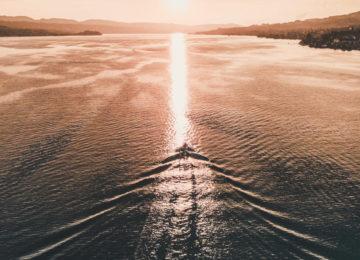 Sonnenuntergang mit Zürichsee